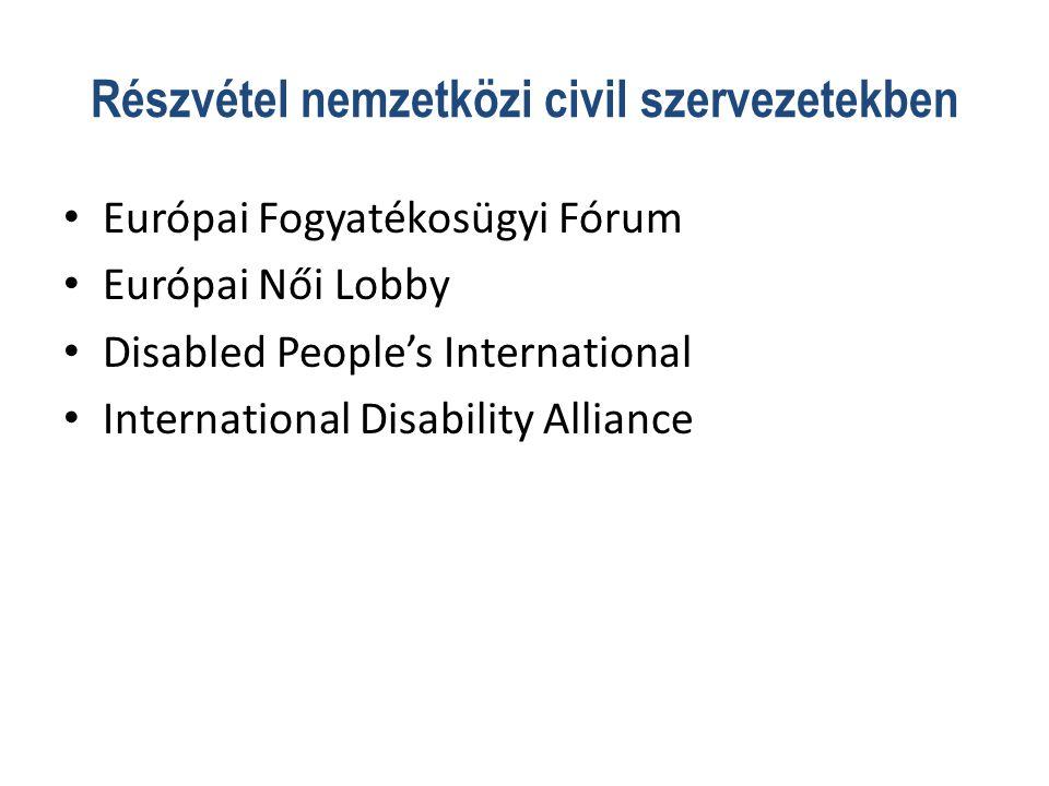 Részvétel nemzetközi civil szervezetekben