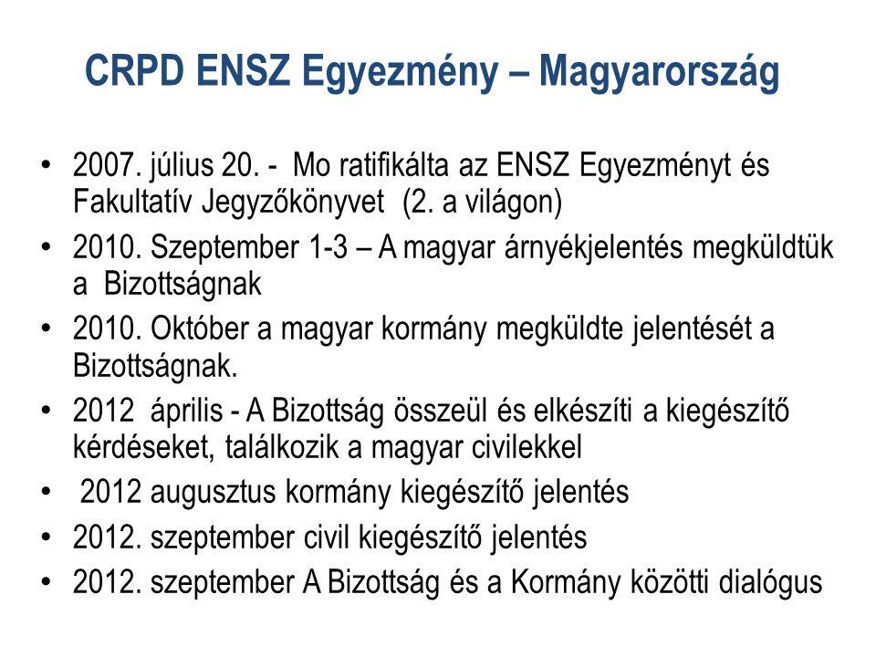 CRPD ENSZ Egyezmény – Magyarország