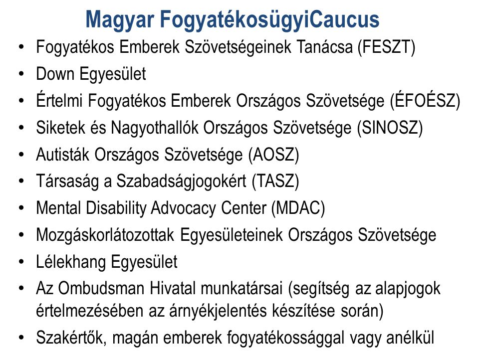 Magyar FogyatékosügyiCaucus