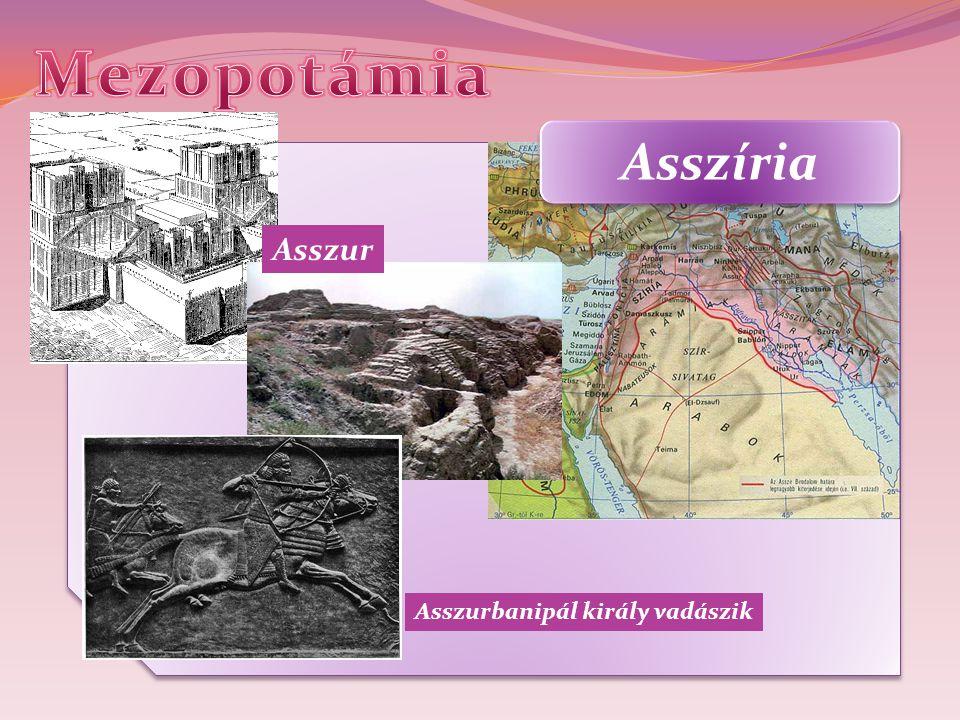 Mezopotámia Asszíria Asszur Asszurbanipál király vadászik