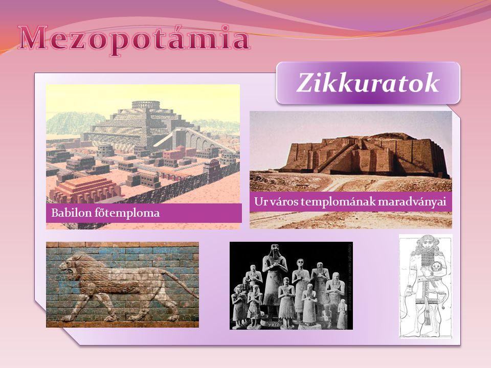 Mezopotámia Zikkuratok Ur város templomának maradványai