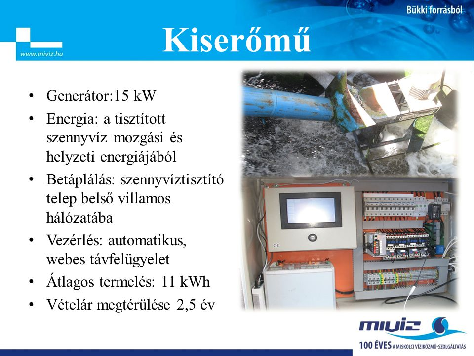 Kiserőmű Generátor:15 kW