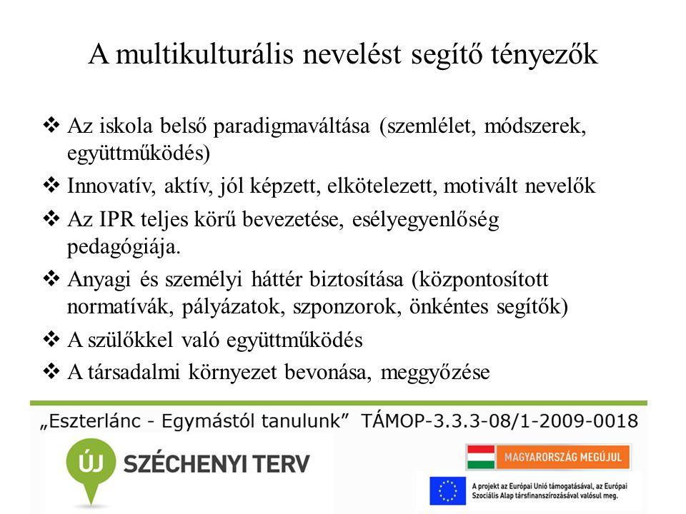 A multikulturális nevelést segítő tényezők