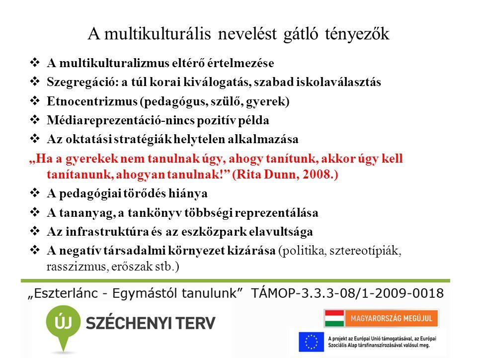 A multikulturális nevelést gátló tényezők