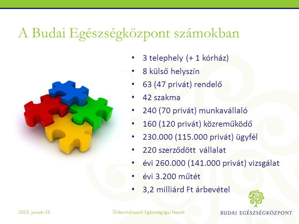 A Budai Egészségközpont számokban