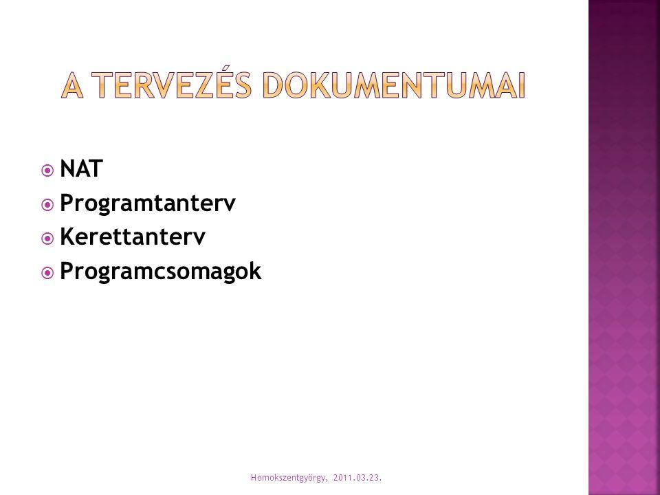 A tervezés dokumentumai