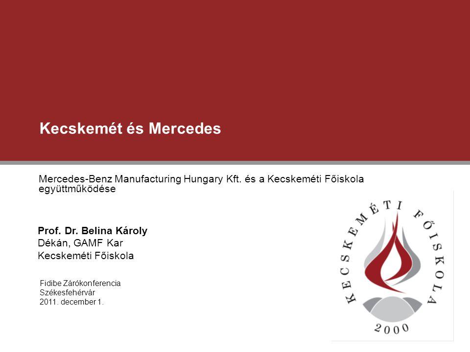 Kecskemét és Mercedes Mercedes-Benz Manufacturing Hungary Kft. és a Kecskeméti Főiskola együttműködése.