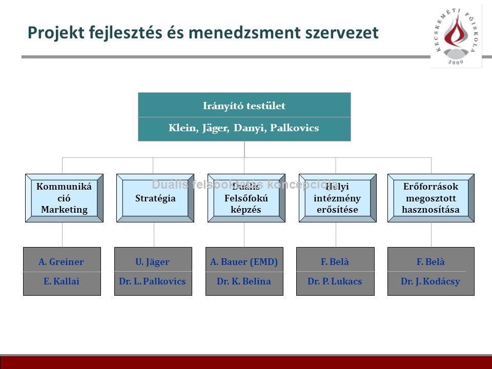Projekt fejlesztés és menedzsment szervezet