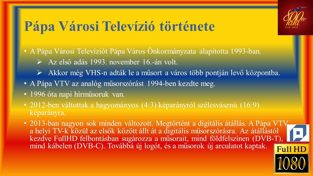 Pápa Városi Televízió története