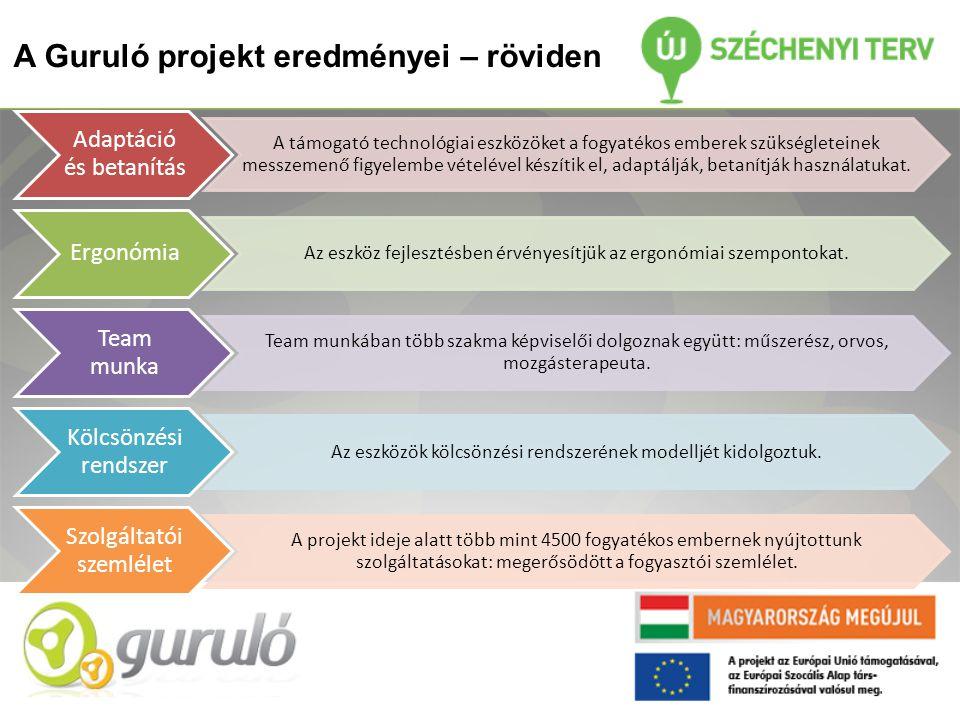 A Guruló projekt eredményei – röviden