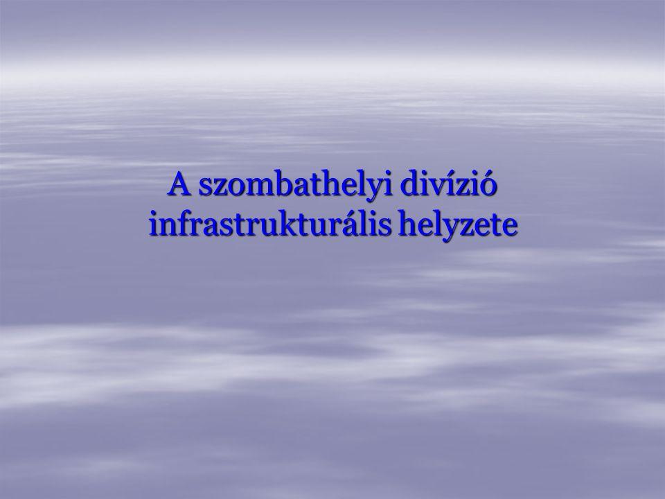 A szombathelyi divízió infrastrukturális helyzete