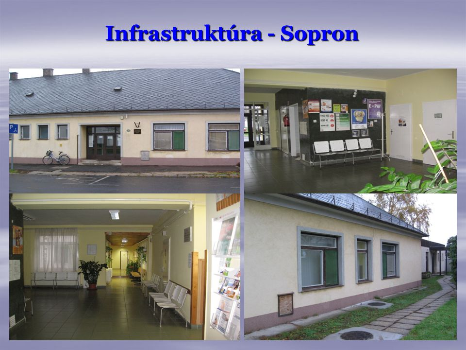 Infrastruktúra - Sopron