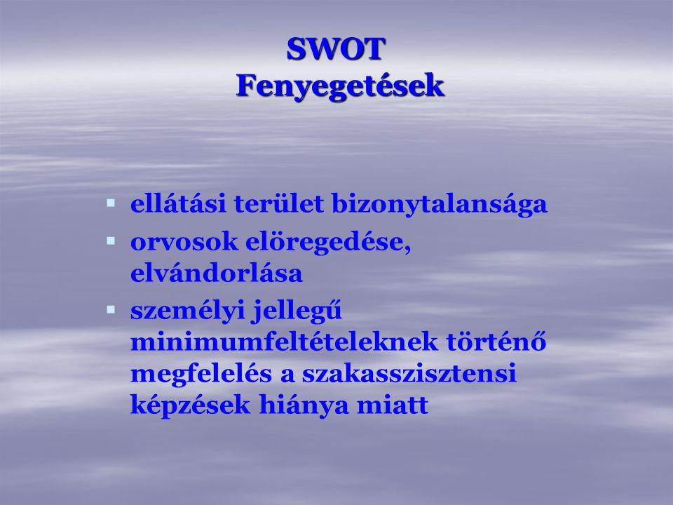 SWOT Fenyegetések ellátási terület bizonytalansága