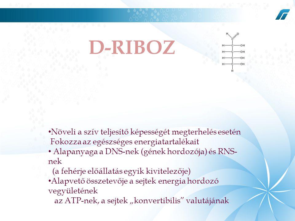 D-RIBOZ JE Növeli a szív teljesítő képességét megterhelés esetén