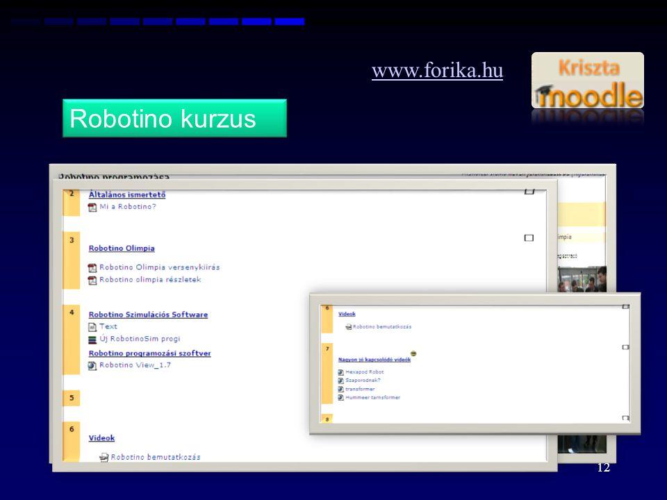 www.forika.hu Robotino kurzus