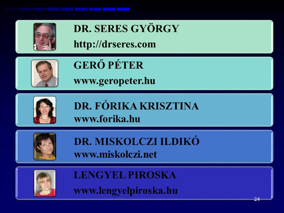 DR. FÓRIKA KRISZTINA www.forika.hu DR. MISKOLCZI ILDIKÓ