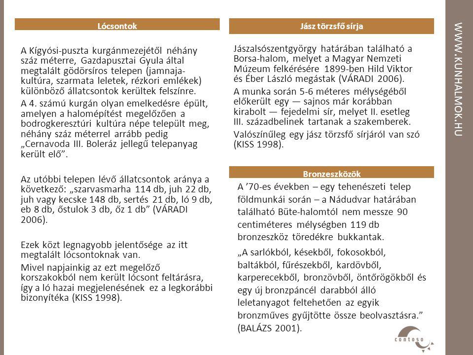 Lócsontok Jász törzsfő sírja. www.kunhalmok.hu.
