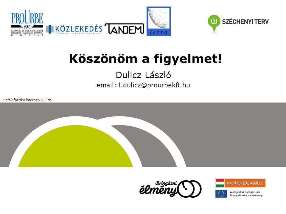 Köszönöm a figyelmet! Dulicz László email: l.dulicz@prourbekft.hu