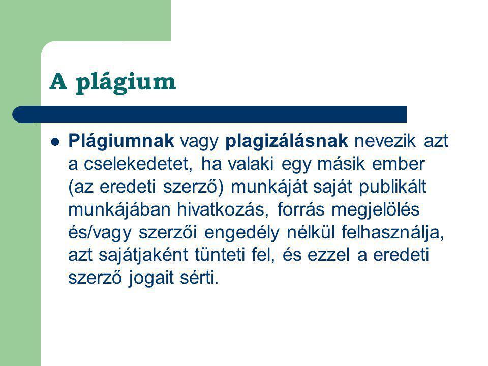 A plágium