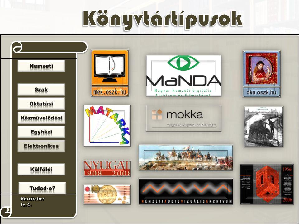 E-könyvtárak, adatbázisok, tematikus portálok