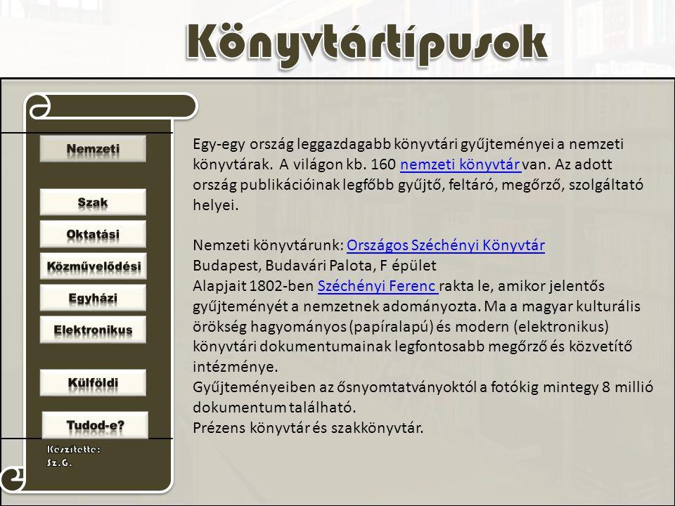 Nemzeti könyvtárunk: Országos Széchényi Könyvtár