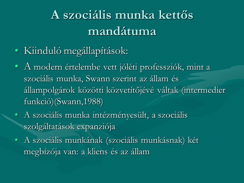 A szociális munka kettős mandátuma