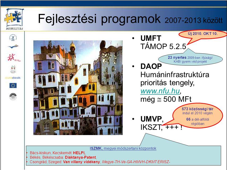 Fejlesztési programok 2007-2013 között