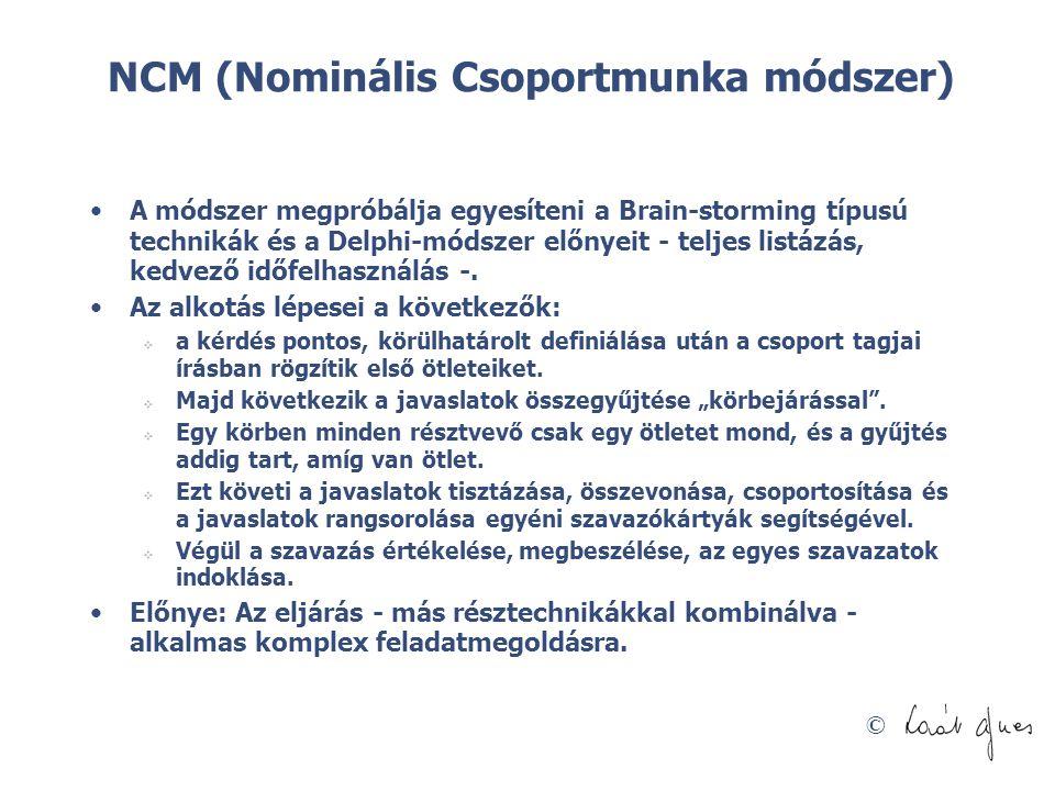 NCM (Nominális Csoportmunka módszer)