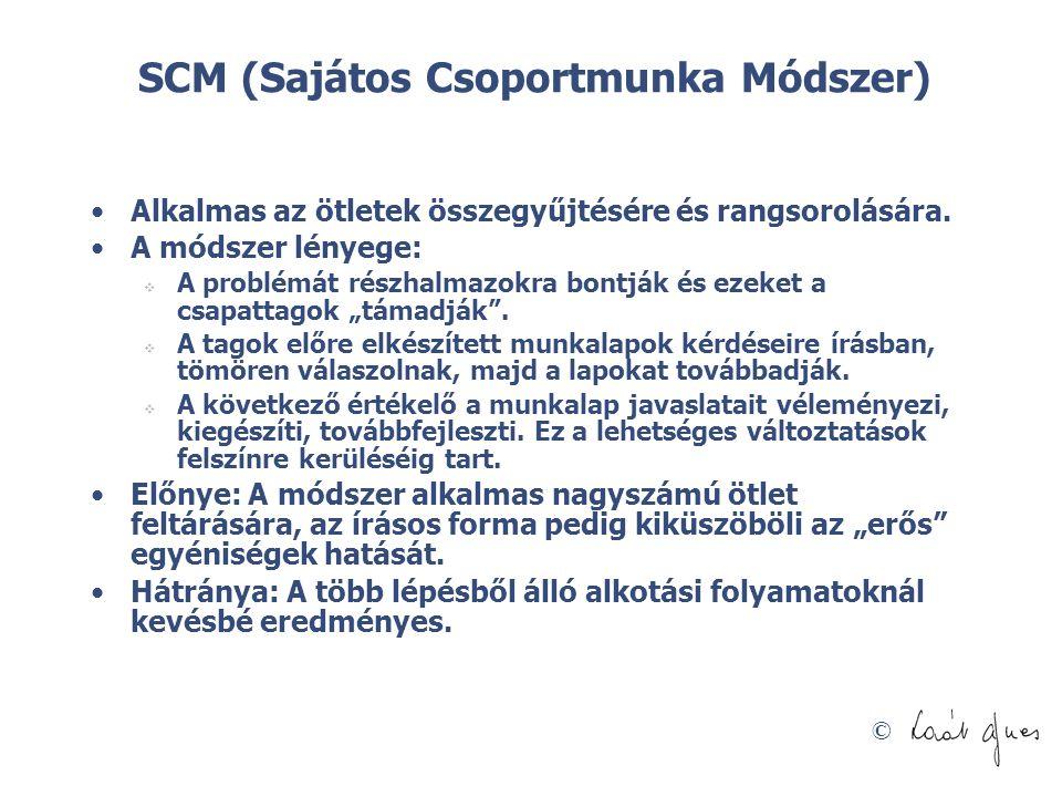 SCM (Sajátos Csoportmunka Módszer)
