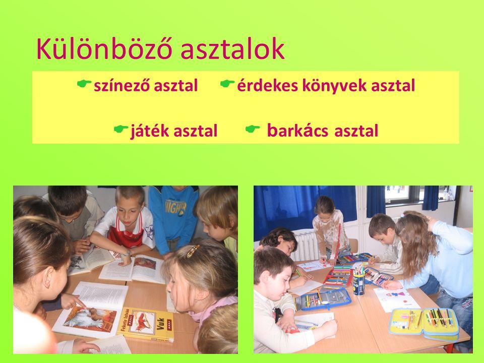 színező asztal érdekes könyvek asztal játék asztal  barkács asztal