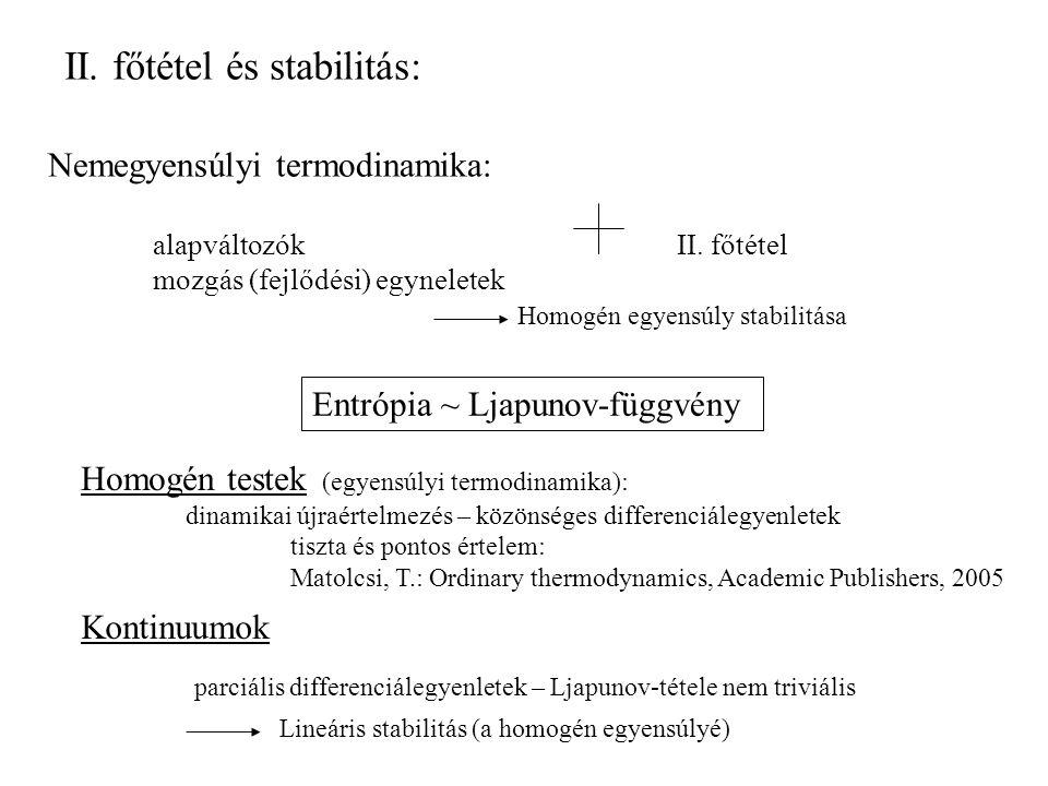 II. főtétel és stabilitás: