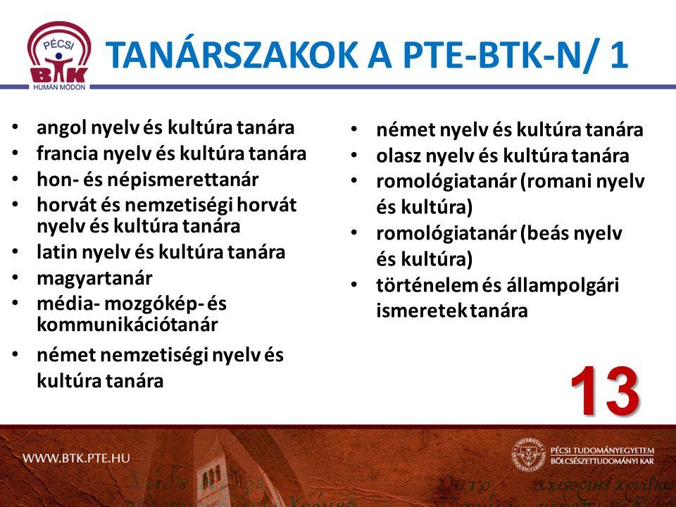 Tanárszakok a PTE-BTK-n/ 1