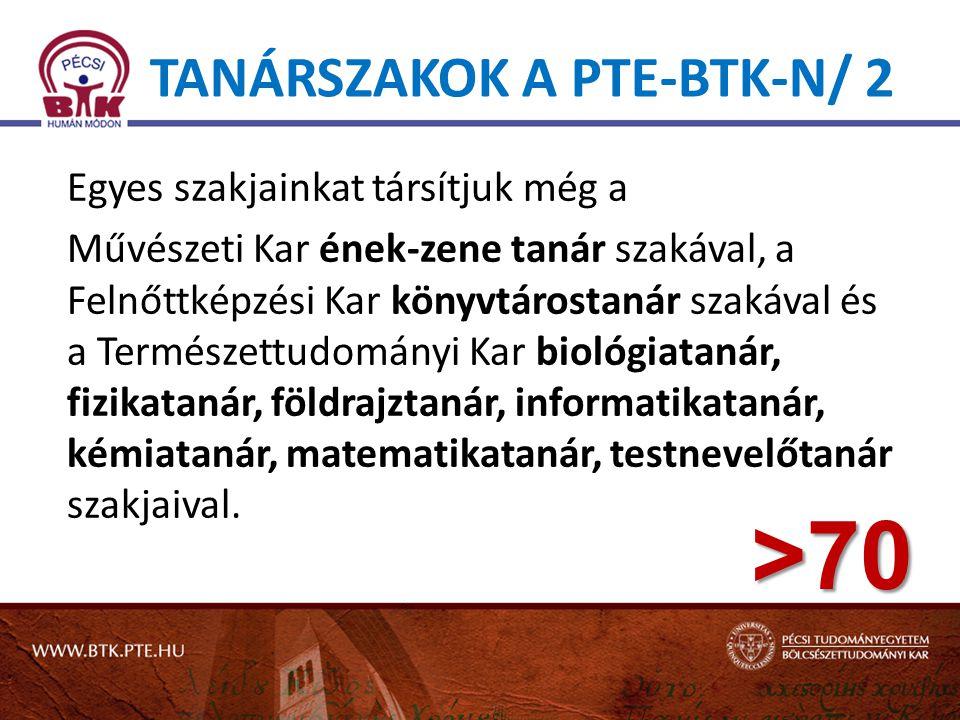 Tanárszakok a PTE-BTK-n/ 2