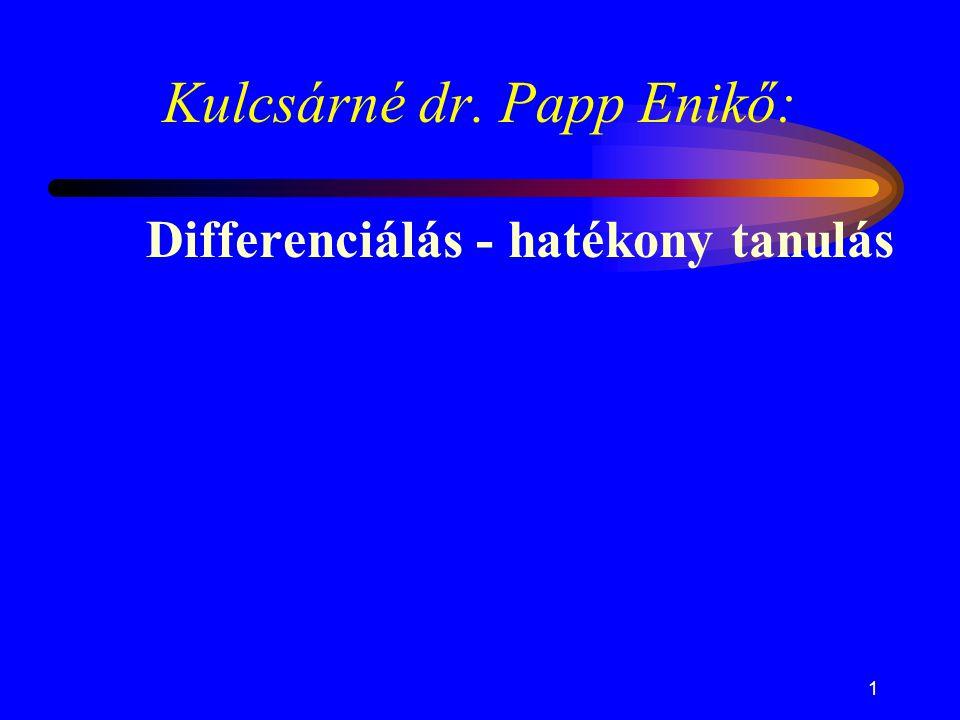 Kulcsárné dr. Papp Enikő: