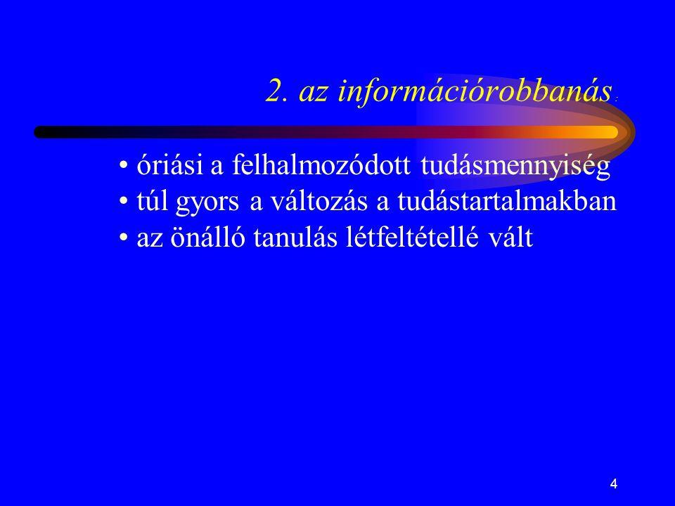 2. az információrobbanás :