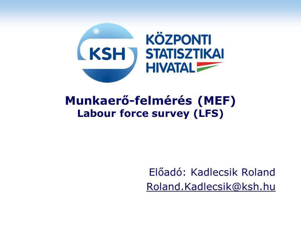 Munkaerő-felmérés (MEF) Labour force survey (LFS)