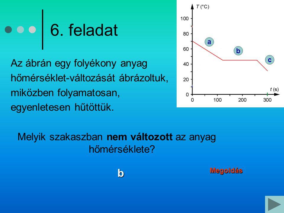 Melyik szakaszban nem változott az anyag hőmérséklete