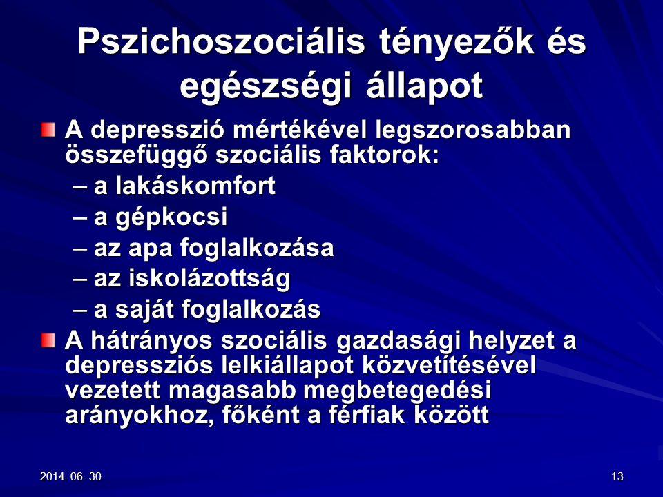 Pszichoszociális tényezők és egészségi állapot