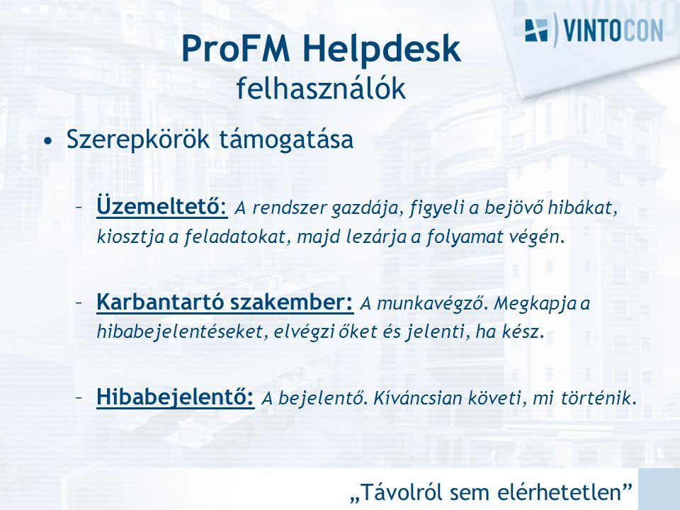 ProFM Helpdesk felhasználók