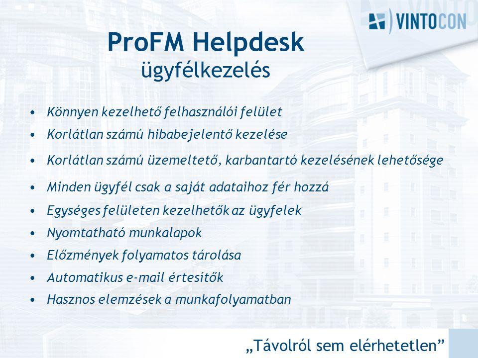 ProFM Helpdesk ügyfélkezelés