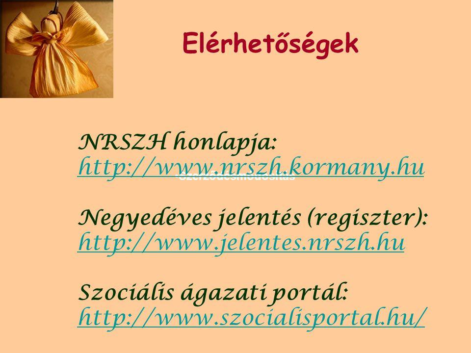 Elérhetőségek NRSZH honlapja: http://www.nrszh.kormany.hu