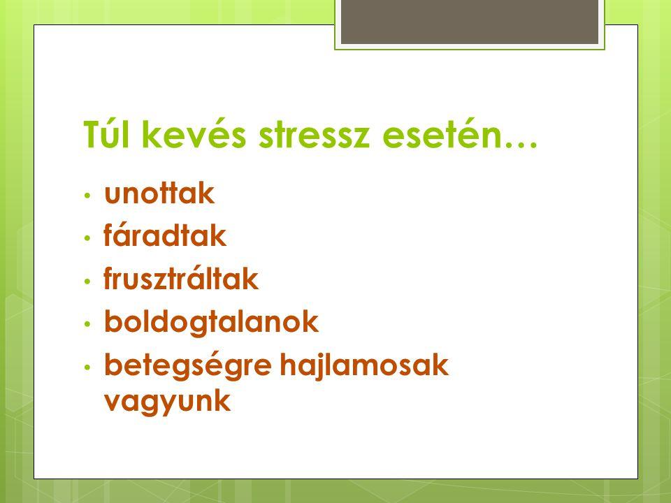Túl kevés stressz esetén…