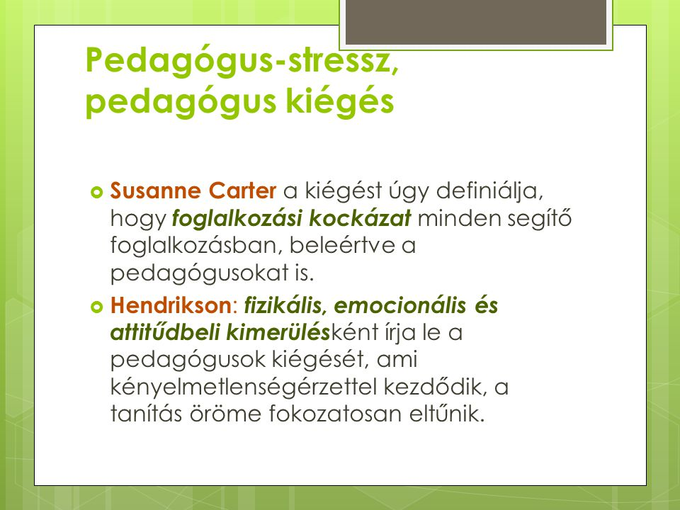 Pedagógus-stressz, pedagógus kiégés