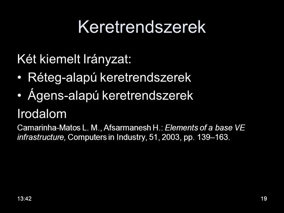 Keretrendszerek Két kiemelt Irányzat: Réteg-alapú keretrendszerek