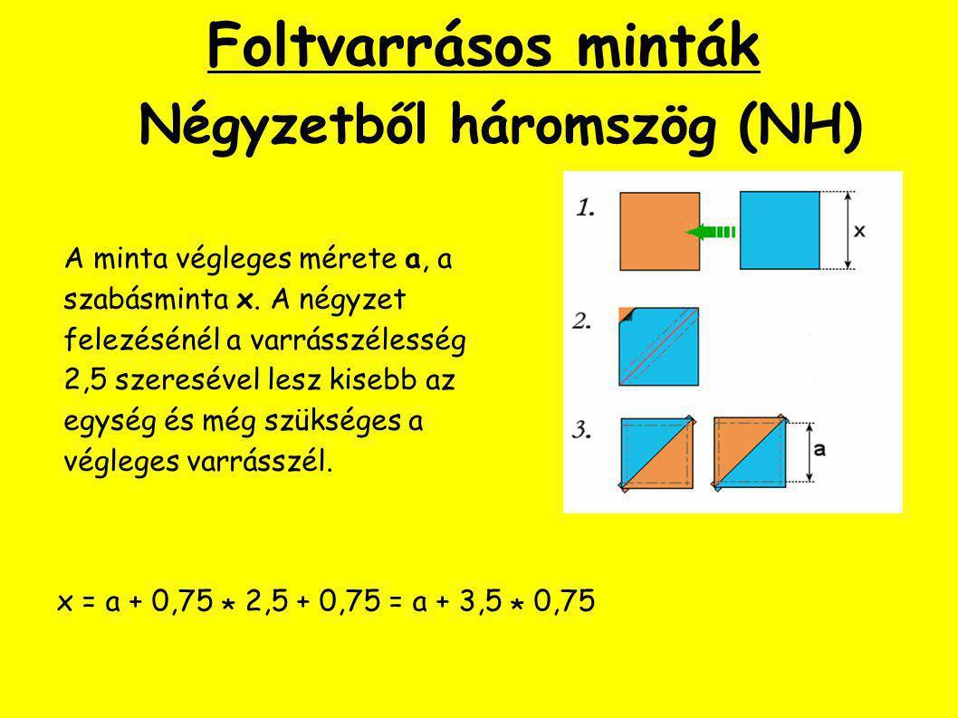 Foltvarrásos minták Négyzetből háromszög (NH)
