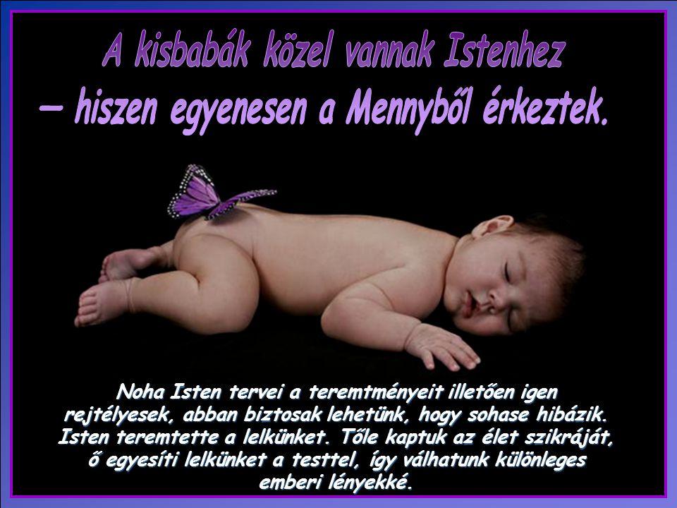 A kisbabák közel vannak Istenhez