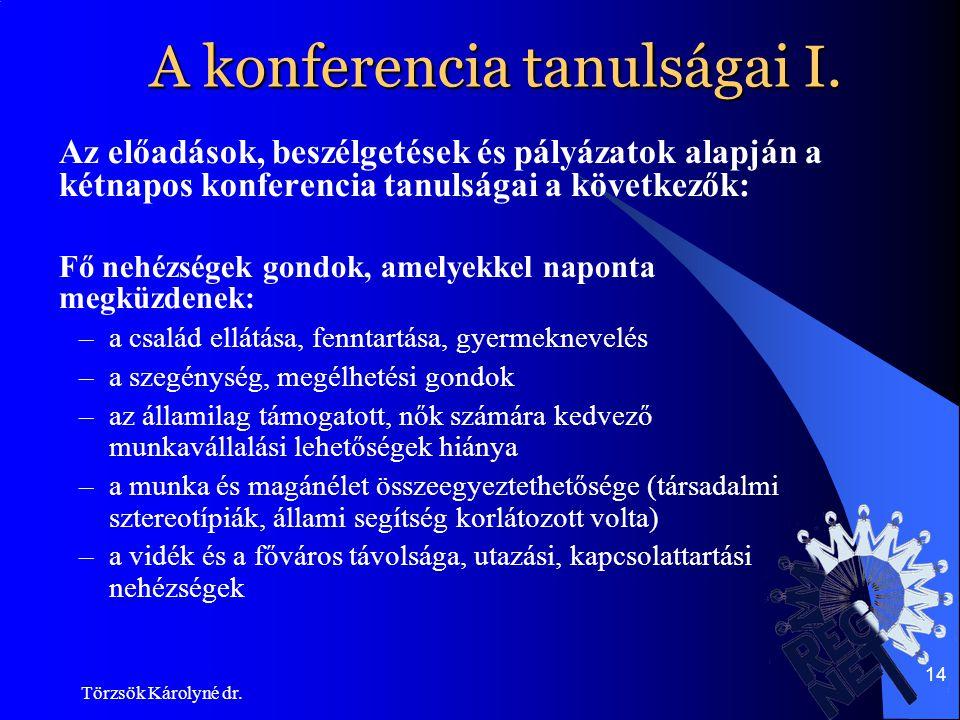 A konferencia tanulságai I.