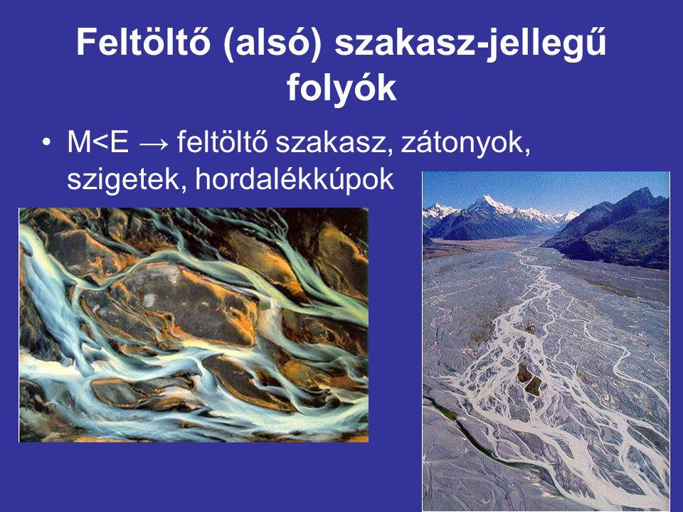 Feltöltő (alsó) szakasz-jellegű folyók