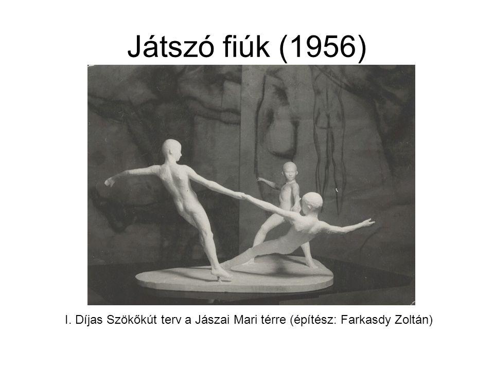 I. Díjas Szökőkút terv a Jászai Mari térre (építész: Farkasdy Zoltán)