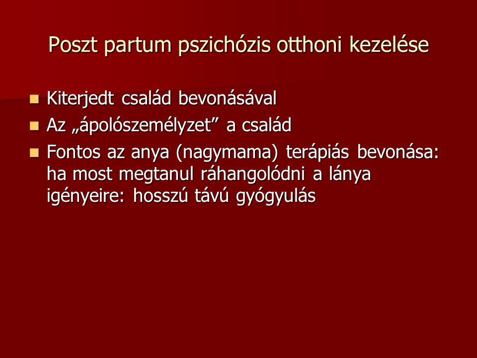 Poszt partum pszichózis otthoni kezelése
